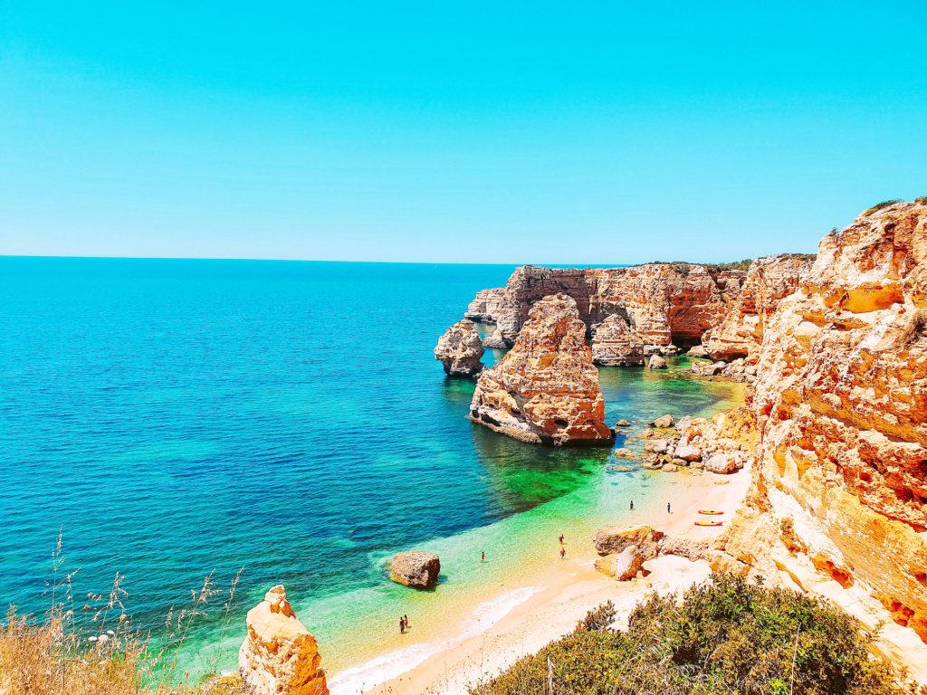 Plage de Marinha, Portugal - Top 10 des plus belles plages d'Europe