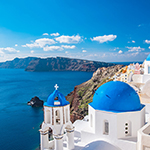 Santorin, les Cyclades, Grèce