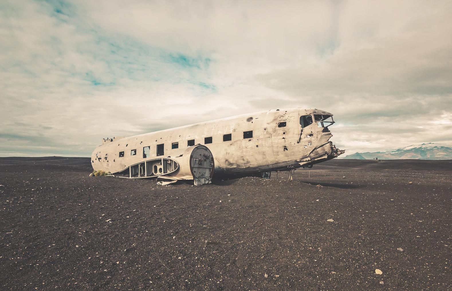 Epave d'avion - Islande en mai