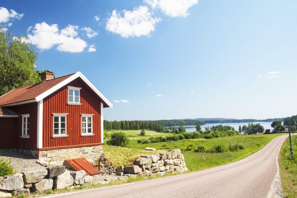 Suède, Maison au bord d'un lac - Norvege Suede ou Finlande