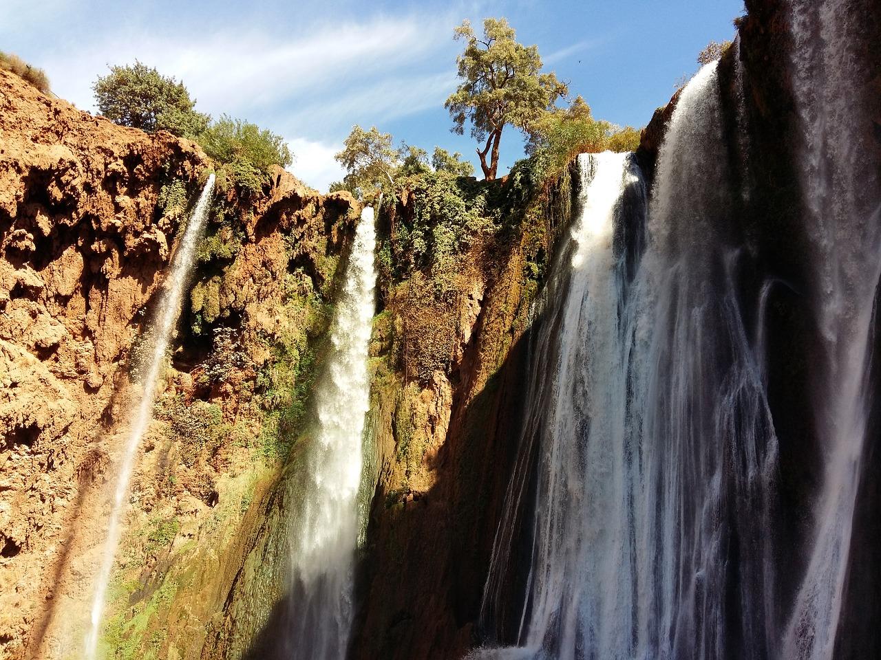 cascades d'ouzoud week-end à marrakech