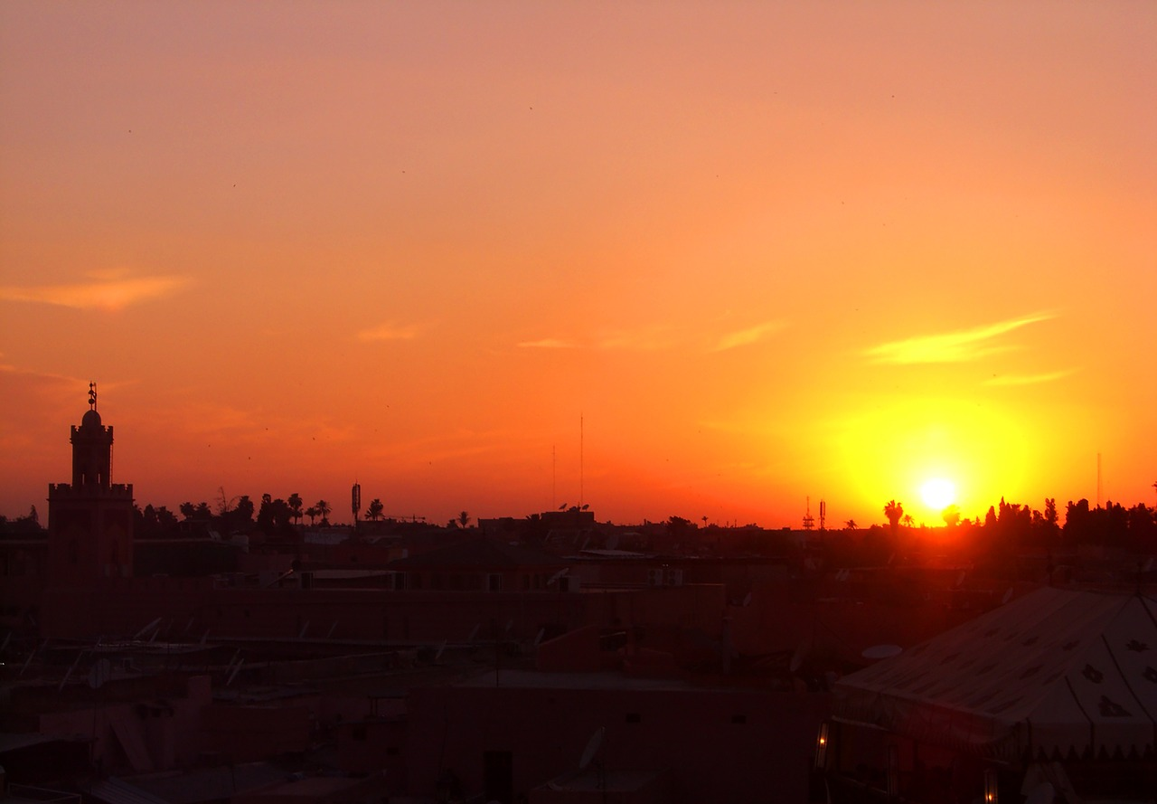 week-end à marrakech coucher de soleil