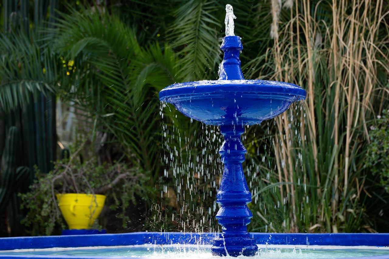 fontaine bleue jardin majorelle week-end à marrakech