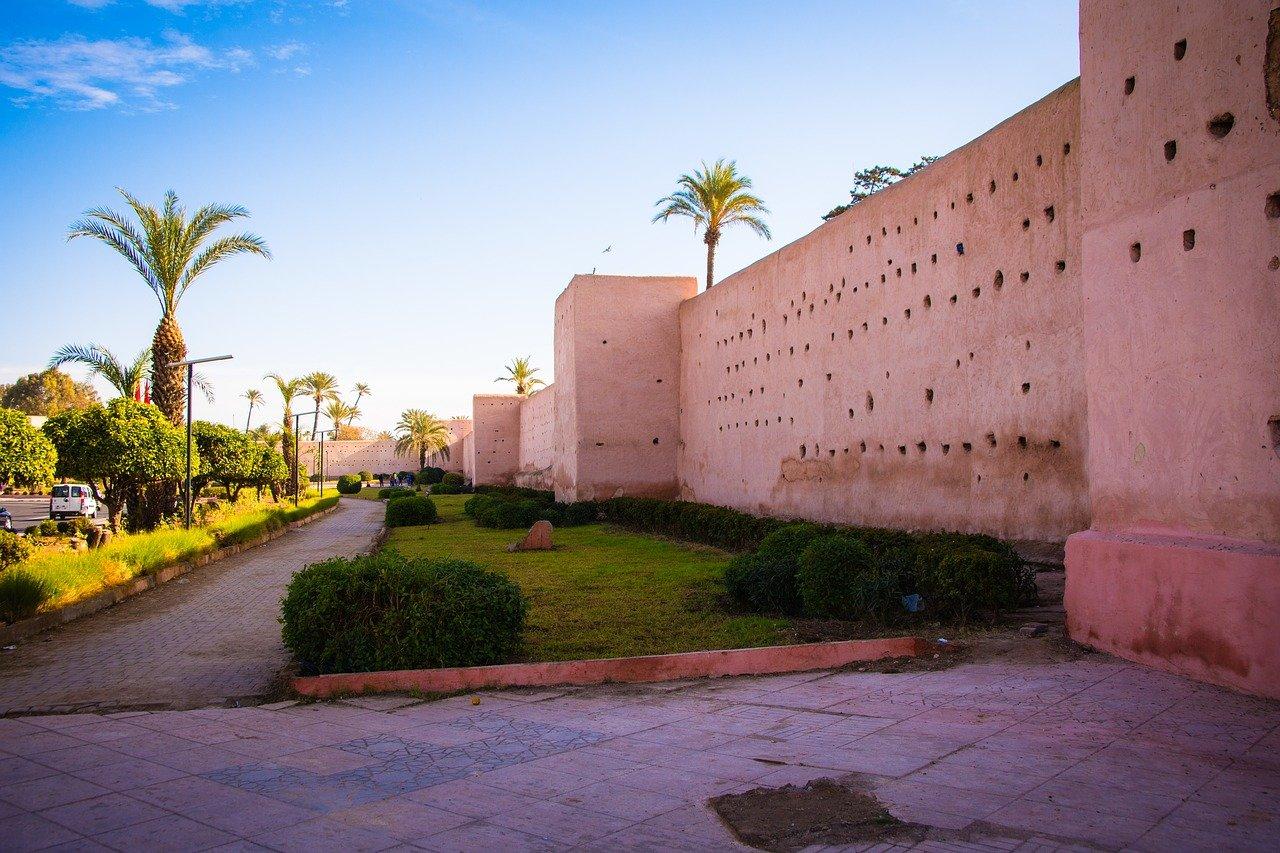 mur mosquee palmier week-end à marrakech