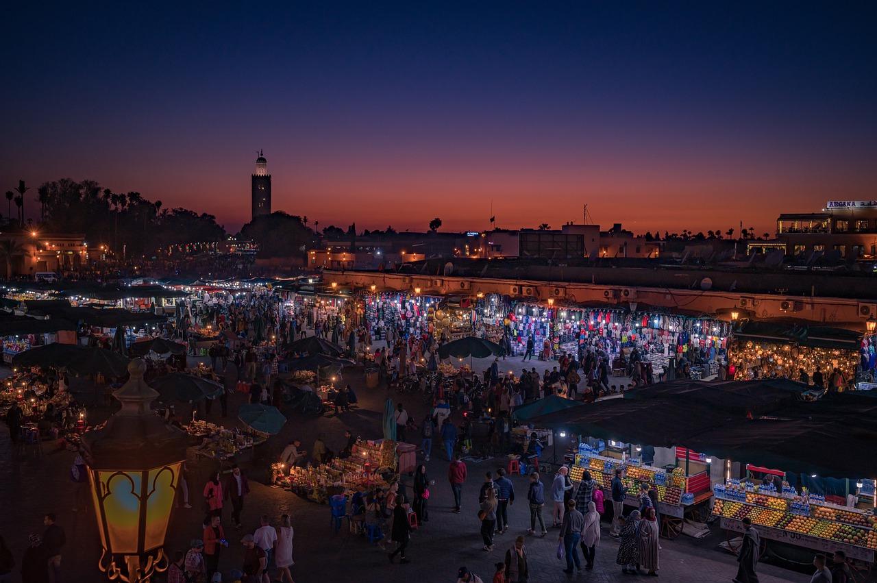 place centrale medina marrakech nuit week-end à marrakech
