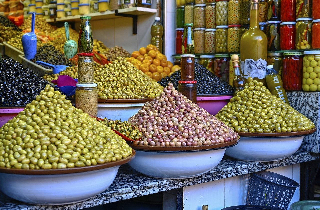 olives epices souk maroc week-end à marrakech